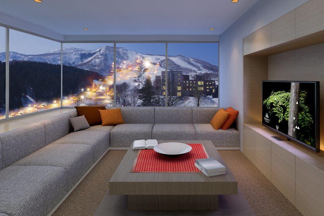 The Maples Niseko Lounge View